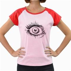 Big Eye Monster Women s Cap Sleeve T Shirt