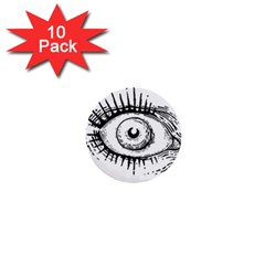 Big Eye Monster 1  Mini Buttons (10 Pack)