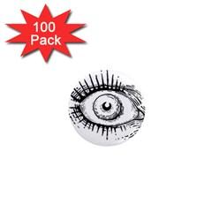 Big Eye Monster 1  Mini Magnets (100 Pack)