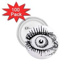 Big Eye Monster 1 75  Buttons (100 Pack)