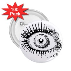 Big Eye Monster 2 25  Buttons (100 Pack)