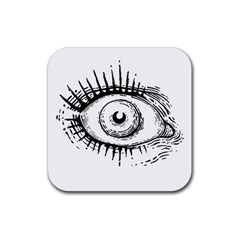 Big Eye Monster Rubber Square Coaster (4 Pack)