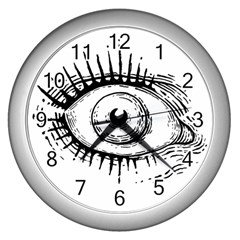 Big Eye Monster Wall Clocks (silver)