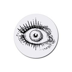 Big Eye Monster Rubber Round Coaster (4 Pack)