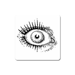 Big Eye Monster Square Magnet