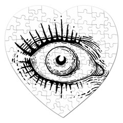 Big Eye Monster Jigsaw Puzzle (heart)