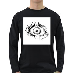Big Eye Monster Long Sleeve Dark T Shirts