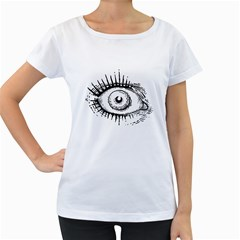 Big Eye Monster Women s Loose Fit T Shirt (white)