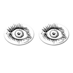 Big Eye Monster Cufflinks (oval)