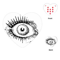 Big Eye Monster Playing Cards (heart)