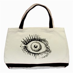 Big Eye Monster Basic Tote Bag