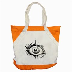 Big Eye Monster Accent Tote Bag