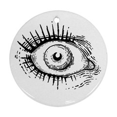 Big Eye Monster Round Ornament (two Sides)
