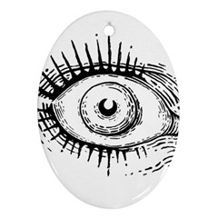 Big Eye Monster Oval Ornament (two Sides)