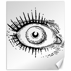 Big Eye Monster Canvas 8  X 10