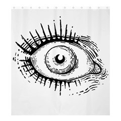 Big Eye Monster Shower Curtain 66  X 72  (large)
