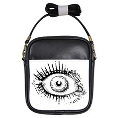 Big Eye Monster Girls Sling Bags