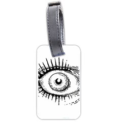 Big Eye Monster Luggage Tags (one Side)