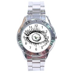 Big Eye Monster Stainless Steel Analogue Watch