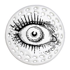 Big Eye Monster Ornament (round Filigree)