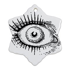Big Eye Monster Snowflake Ornament (two Sides)