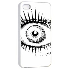 Big Eye Monster Apple Iphone 4/4s Seamless Case (white)