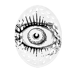 Big Eye Monster Oval Filigree Ornament (two Sides)