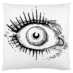 Big Eye Monster Large Cushion Case (two Sides)