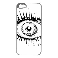 Big Eye Monster Apple Iphone 5 Case (silver)