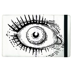Big Eye Monster Apple Ipad 3/4 Flip Case