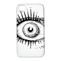 Big Eye Monster Apple Iphone 4/4s Hardshell Case With Stand