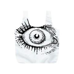 Big Eye Monster Full Print Recycle Bags (s)