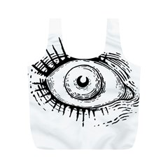 Big Eye Monster Full Print Recycle Bags (m)