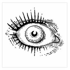 Big Eye Monster Large Satin Scarf (square)