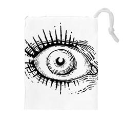 Big Eye Monster Drawstring Pouches (extra Large)
