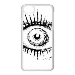 Big Eye Monster Apple Iphone 8 Seamless Case (white)
