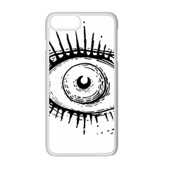 Big Eye Monster Apple Iphone 8 Plus Seamless Case (white)