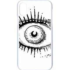 Big Eye Monster Apple Iphone X Seamless Case (white)