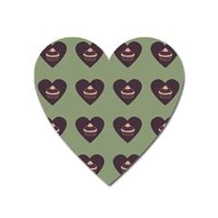 Cupcake Green Heart Magnet
