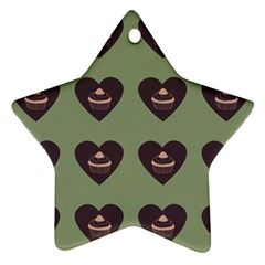 Cupcake Green Star Ornament (two Sides)
