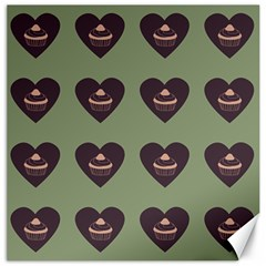 Cupcake Green Canvas 12  X 12