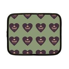 Cupcake Green Netbook Case (small)