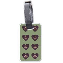 Cupcake Green Luggage Tags (two Sides)