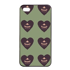 Cupcake Green Apple Iphone 4/4s Seamless Case (black)