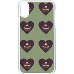 Cupcake Green Apple Iphone X Seamless Case (white)