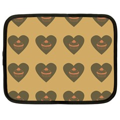 Cupcake Pumpkin Orange Grey Netbook Case (large)