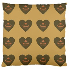 Cupcake Pumpkin Orange Grey Large Cushion Case (two Sides)