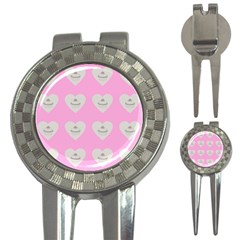 Cupcake Pink Grey 3 In 1 Golf Divots