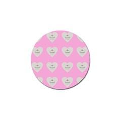 Cupcake Pink Grey Golf Ball Marker (10 Pack)