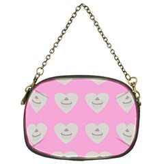 Cupcake Pink Grey Chain Purses (one Side)